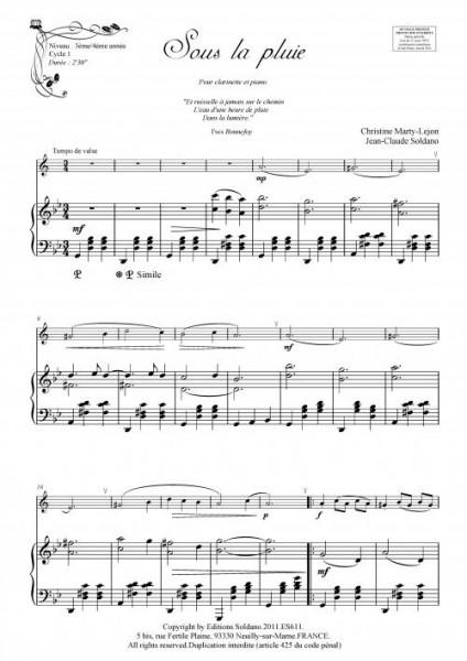 Sous la pluie (clarinette et piano)