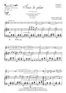 Sous la pluie (violon et piano)