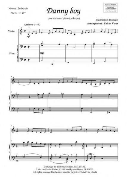 Danny boy (violon et piano)