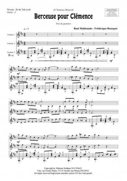 Berceuse pour Clémence (trio de guitares)