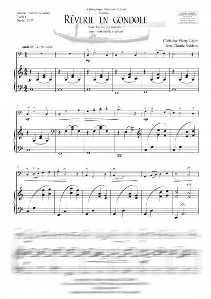 Rêverie en gondole (violoncelle et piano)