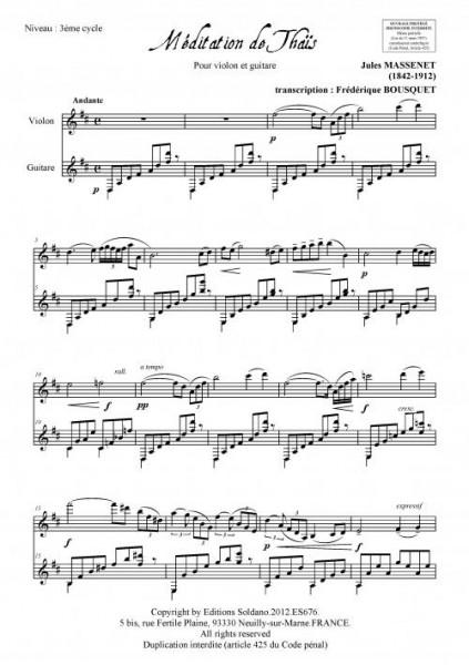 Méditation de Thaïs (violon et guitare)