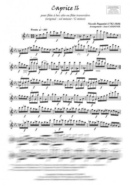 Caprices 16 à 18 (flûte à bec alto ou flûte traversière)
