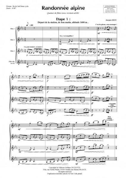 Randonnée alpine (quatuor de flûtes)