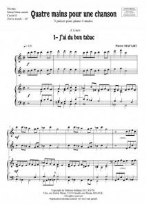 Quatre mains pour une chanson (piano 4 mains)