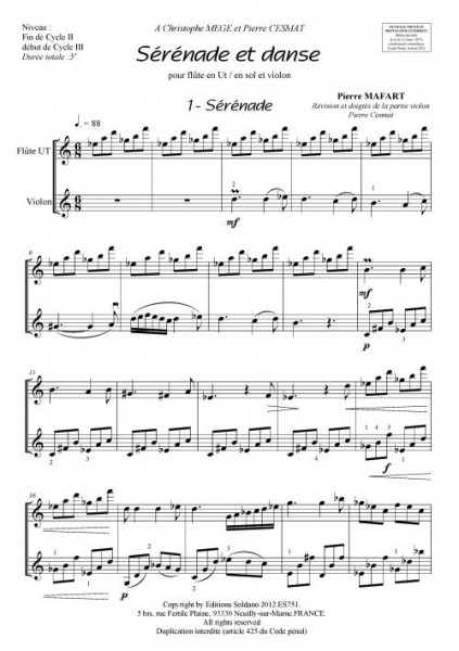 Sérénade et Danse (flûte et violon)