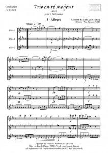 Trio en ré majeur (trio de flûtes)