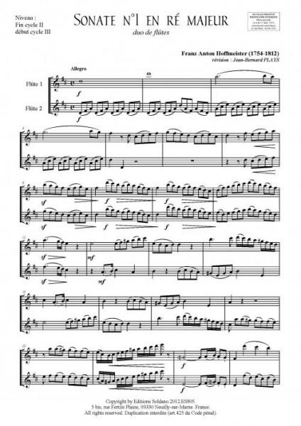 6 Sonates - Volume 1 (duo de flûtes)