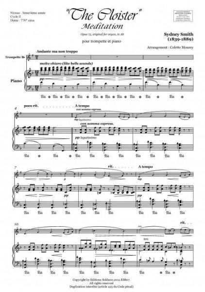 Méditation (trompette et piano)