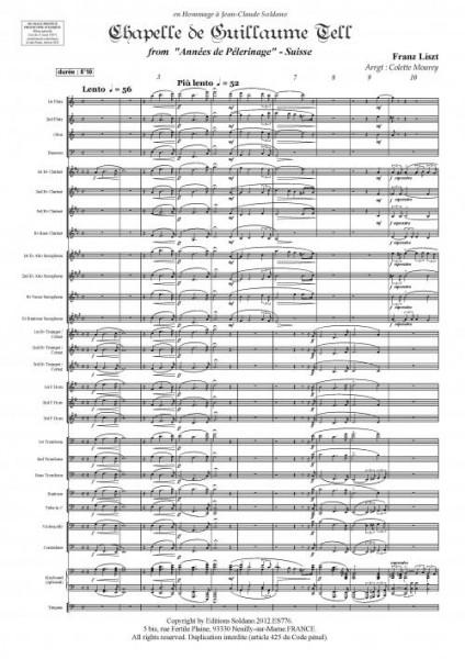 Chapelle de Guillaume Tell (Orchestre d'harmonie)