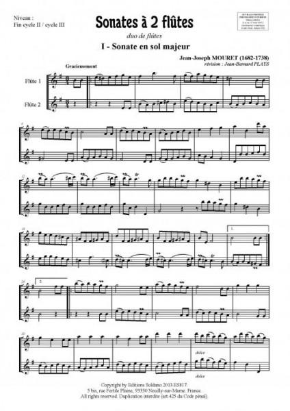 Sonates à 2 flûtes - Volume 1 (duo de flûtes)
