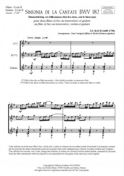Concert en trio - VOLUME 1 (deux flûtes et guitare)