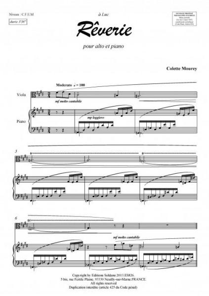Rêverie (alto et piano)