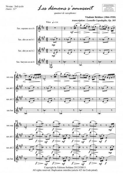 Les démons s amusent (quatuor de saxophones)