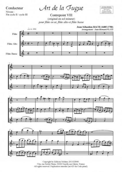 Art de la Fugue (trio de flûtes)