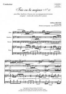 Trio en la majeur (flûte, hautbois, basson et piano)