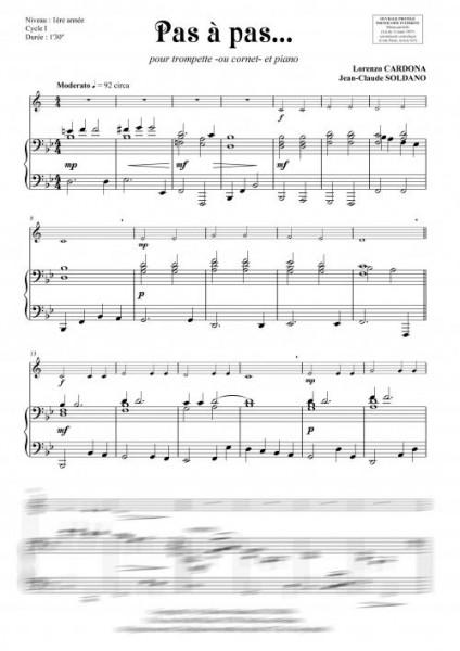 Pas à pas... (trompette -ou cornet- et piano)