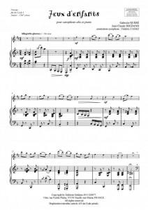 Jeux d enfants (sax alto et piano)