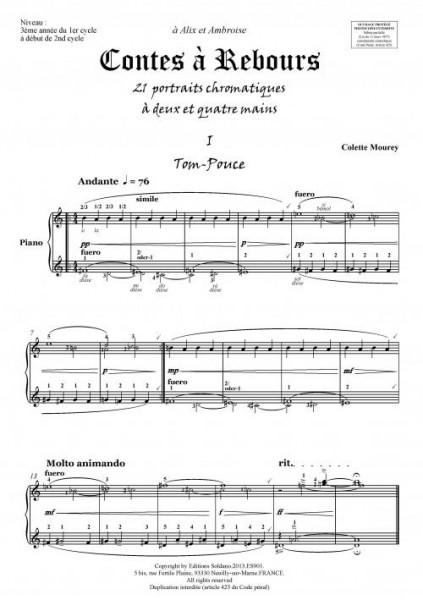 Contes à rebours (piano 2 et 4 mains)