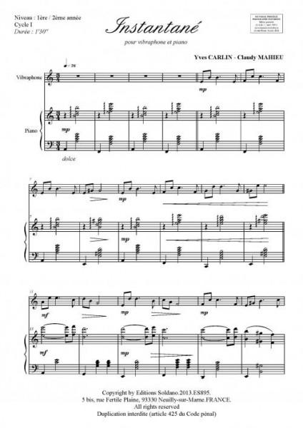 Instantané (vibraphone et piano)