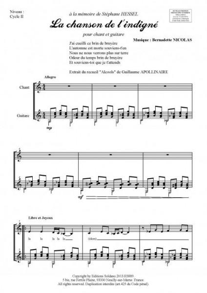 La chanson de l'indigné (chant et guitare)