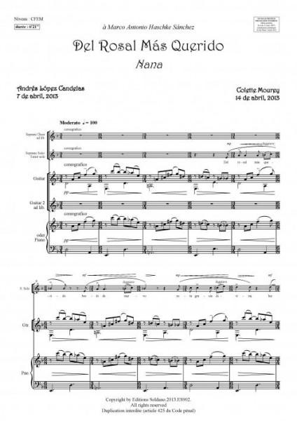 Del Rosal mas querido (soprano ou ténor et piano ou guitare)