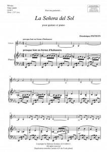 La Señora del Sol (guitare et piano)