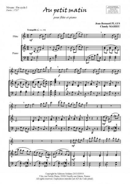 Au petit matin (flûte et piano)