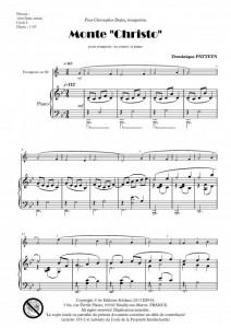 """Monte """"Christo"""" (trompette -ou cornet- et piano)"""