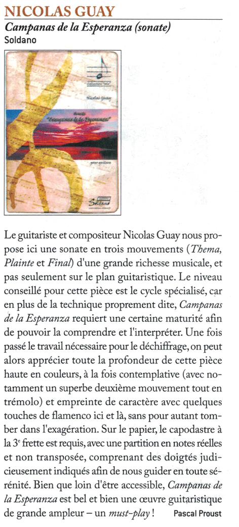 chronique Campanas de la Esperanza guitare classique magazine