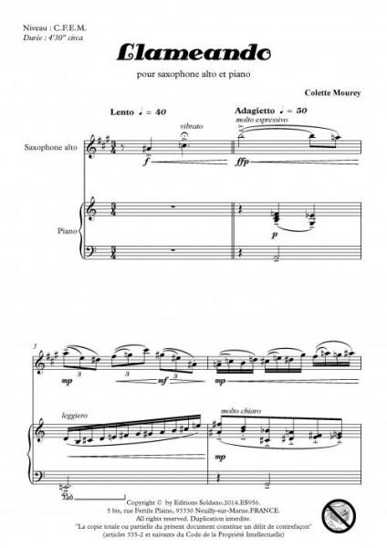 Llameando (saxophone alto et piano)