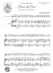 Fleur de Fée (trompette -ou cornet- et piano)