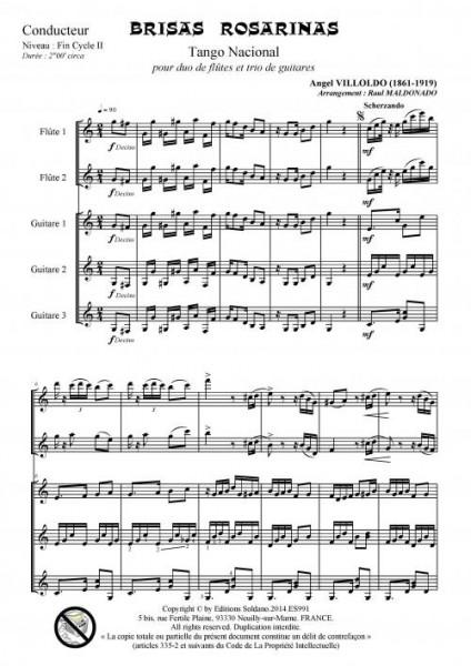 Brisas rosarinas (2 flûtes et 3 guitares)