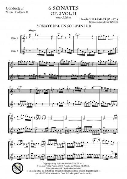 6 sonates VOL2 (deux flûtes)
