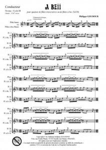 A Beii (quatuor de flûtes - ou flûtes à bec)