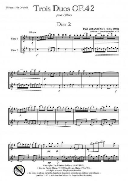 3 duos opus 42 - DUO 2 (duo de flûtes)