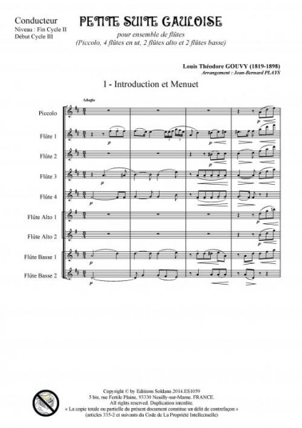 Petite suite gauloise (ensemble de flûtes)