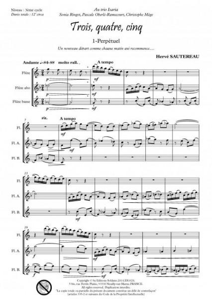 Trois, quatre, cinq (trio de flûtes)
