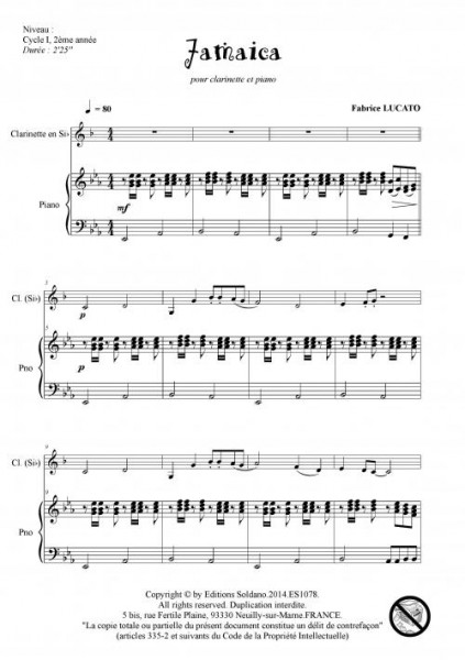 Jamaica (clarinette et piano)