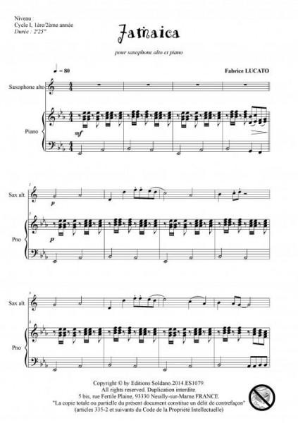 Jamaica (sax alto et piano)