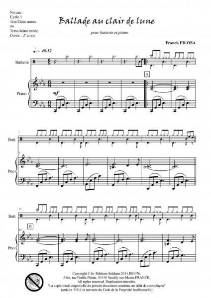 Ballade au clair de lune (batterie et piano)