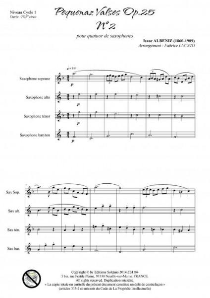Pequenaz valse n°2 (quatuor de saxophones)