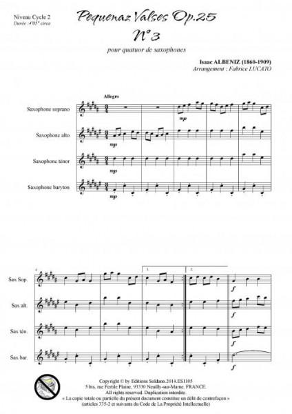 Pequenaz valse n°3 (quatuor de saxophones)