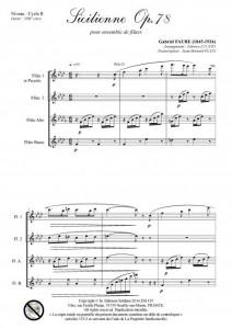Sicilienne opus 78 (ensemble de flûtes)