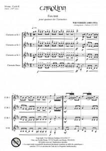 Carolina (quatuor de clarinettes)