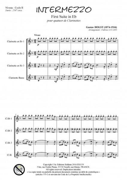 Intermezzo (quatuor de clarinettes)