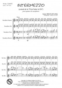 Intermezzo (quatuor de saxophones)