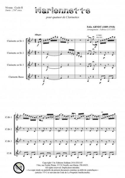 Marionnette (quatuor de clarinettes)