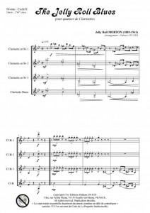 The Jelly Roll blues (quatuor de clarinettes)