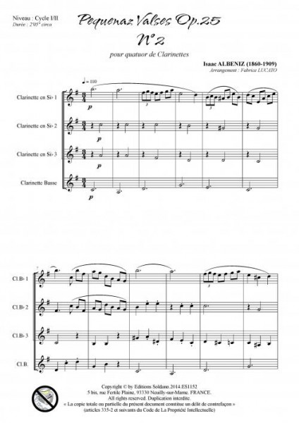 Pequenaz valse n°2 (quatuor de clarinettes)